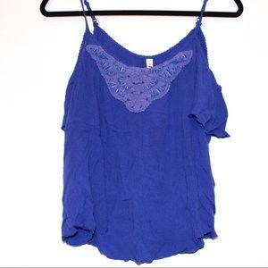 ⭐️ Mudd blue top